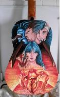 sur Guitare en bois: Mangas Vampire Hunter...et vernis