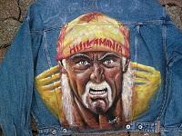 sur Veste en Jeans: Hommage à Hulk Hogan catcheur américain