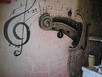 Fresque mural Intérieur:Thème Music classique/partition Aristochats...lol/