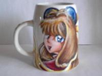 sur un mug Céramique : caricature d`une personne en son personnage favori Sakura